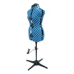 Polka Dot Adjustable Dressmakers Dummy Duck Egg Blue