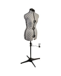 Polka Dot Adjustable Dressmakers Dummy Grey