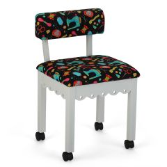 Sewing Chair Sewing Notions Print with Black Background   Arrow 7011B