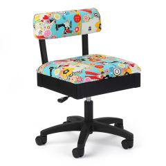 Hydraulic Sewing Chair Sew Wow Black with Sewing Notions Design - H6880