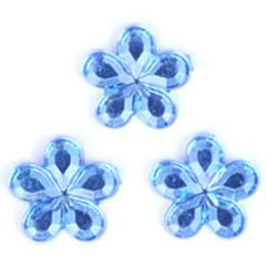 Glue-on Acrylic Stones - 9mm Flower