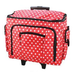 Birch 006108-RED-DOT | Sewing Machine Trolley Bag | 47x38x24cm