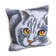 Cross Stitch Cushion: Persian