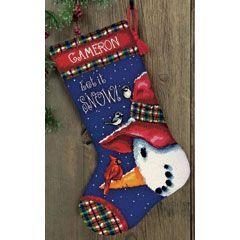 Needlepoint Kit Snowman Perch Stocking