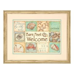 Stamped Cross Stitch: Bare Feet Welcome