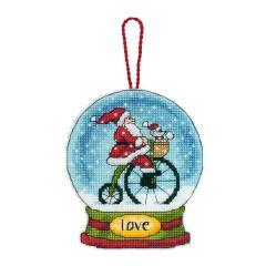 Counted Cross Stitch: Snow Globe: Love
