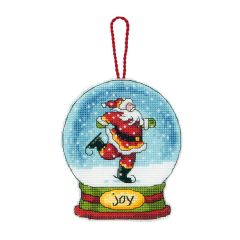 Counted Cross Stitch: Snow Globe: Joy