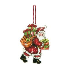 Counted Cross Stitch: Ornament: Santa with Bag
