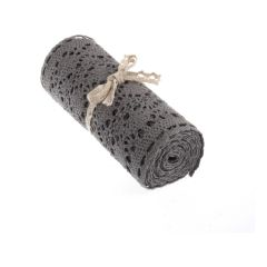 Grey Cotton Lace Trimming Pack of 3 Rolls