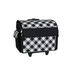 Sewing Machine Trolley Bag Black/White Diagonal Check Everything Mary EVM8800-21