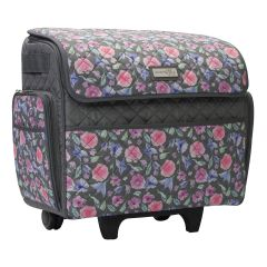 Deluxe Sewing Trolley Quilted Pink Floral 46x23x46cm Everything Mary EVM10130-8