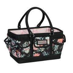 Everything Mary 12619-5 Black & Floral Deluxe Store & Tote Caddy, Desk Space Craft Organiser