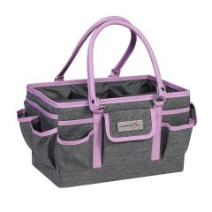 Everything Mary 12701-1 Purple Heather Deluxe Store & Tote Caddy, Desk Space Craft Organiser