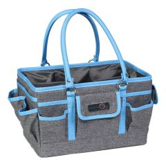 Everything Mary 12701-3 Blue Heather Deluxe Store & Tote Caddy, Desk Space Craft Organiser