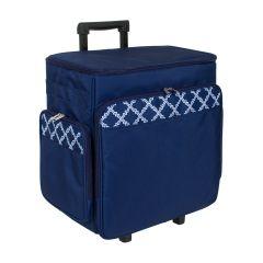Trolley Storage Case Blue/White 36x25x39cm Everything Mary EVM6362-7