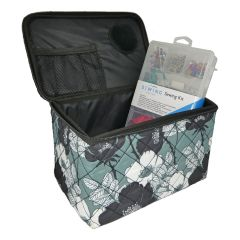 Quilted Sewing Case Floral Print with Sewing Kit Everything Mary EVM9207-18-SKIT