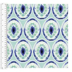 Cotton Craft Fabric 110cm wide x 1m - Charisma - Iris - 15006-LTBLUE