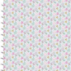 Cotton Craft Fabric 110cm x 1m Unicorn Sparkle Collection - Stars