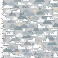 Cotton Craft Fabric 110cm x 1m Little Lion Collection - Night Sky