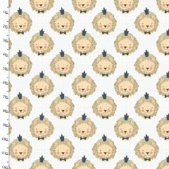 Cotton Craft Fabric 110cm x 1m Little Lion Collection - King of the Jungle