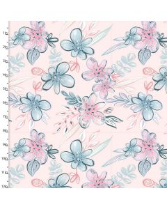 Brushed Cotton Craft Fabric 110cm wide x 1m Mommy and Me Collection - Floral