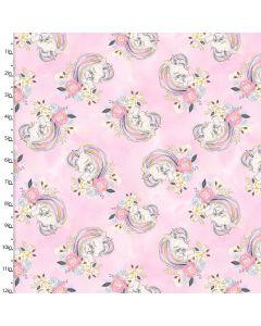 Cotton Craft Fabric 110cm wide x 1m Unicorn Utopia Collection - Unicorns