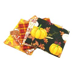 Fat Quarter Bundle Pumpkin Spice | Pack of 5 Fat Quarters by Sewing Online FE0049