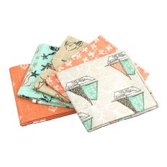 Fat Quarter Bundle Give Me The Sea Boats | Pack of 5 Fat Quarters by Sewing Online FE0051