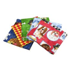 Fat Quarter Bundle Puppy Pals | Pack of 5 Fat Quarters by Sewing Online FE0053