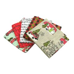 Fat Quarter Bundle Holly Jolly | Pack of 5 Fat Quarters by Sewing Online FE0062