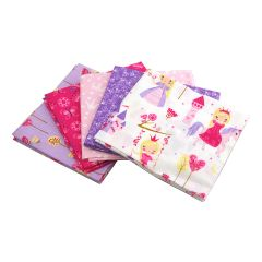Fat Quarter Bundle Princess | Pack of 5 Fat Quarters by Sewing Online FE0075