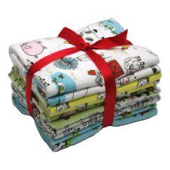 Fat Quarter Bundle Playful Cuties Farm - 5 Pack Brushed Cotton -  FE0084