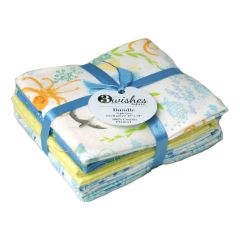 Itty Bittys Collection At Sea Brushed Cotton Fat Quarter Bundle Pack of 5 - FE0086