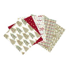 Shimmer and Sparkle Themed Pack of 5 Cotton Fat Quarters - Sewing Online FE0103