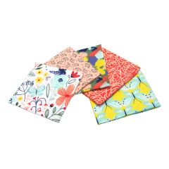 Madison Collection White Pack of 5 Cotton Fat Quarters - Sewing Online FE0106