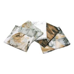 Metallic Fusion Collection Silver Pack of 5 Cotton Fat Quarters - Sewing Online FE0108