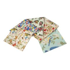 Watercolour Birds Themed Pack of 5 Cotton Fat Quarters - Sewing Online FA211