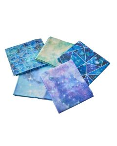 Magical Galaxy Fat Quarter Bundle 2. Pack of 5 Cotton Fat Quarters - Sewing Online FE0117