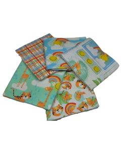 Welcome to the Jungle Brushed Cotton Fat Quarter Bundle-Pack of 5 Brushed Cotton Fat Quarters  - Sewing Online FE0133