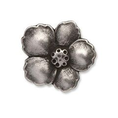 Metal Flower Button G4241 | 15mm (Pack of 50)