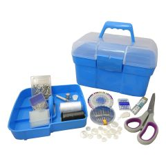 Blue Deluxe Filled Sewing Kit | Hemline A2076/G001