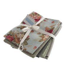 Cotton Linen Fat Quarter Pack Of 5 - Fresh