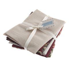 Cotton Linen Fat Quarter Pack Of 5 - Natural