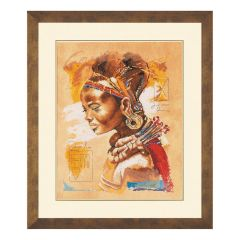 Counted Cross Stitch Kit: African Woman (Evenweave)