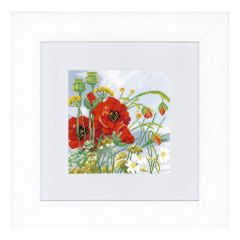 Counted Cross Stitch Kit: Poppies (Evenweave)