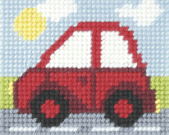 Embroidery Kit Little Red Car