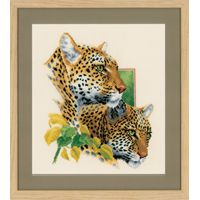 Counted Cross Stitch Kit: Leopard Duo 2