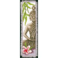 Counted Cross Stitch Kit: Bookmark: Lady Buddha