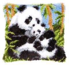 Latch Hook Cushion Kit: Panda