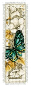 Counted Cross Stitch Kit: Bookmark: Butterfly 1